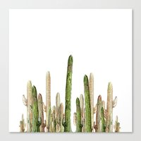 Canvas Prints featuring desert cactus by rodrigomffonseca