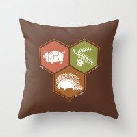 math Throw Pillows featuring simple math by 7115