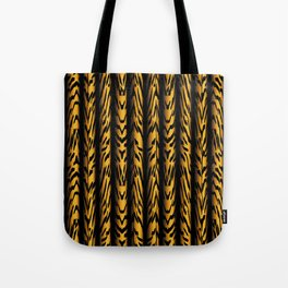 Brown Tiger Stripe Tote Bag