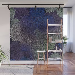 lace weave in deep blues Wall Mural