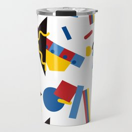 Postmodern Primary Color Party Decorations Travel Mug