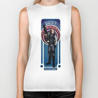 the winter soldier Biker Tanks featuring Bucky the Winter soldier by Studio Kawaii