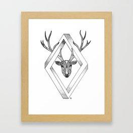 Infinite Deer Framed Art Print