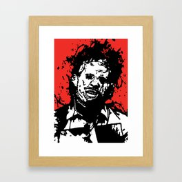 August 18, 1973: Bloodstain Leatherface (color combination B) Framed Art Print