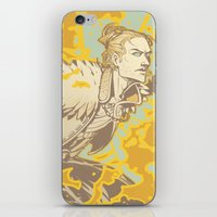 dragon age iPhone & iPod Skins featuring Dragon Age: Justice by Sara Cuervo