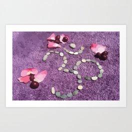 OM with Stones Purple Art Print