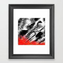 Abstract Fire Bird Framed Art Print