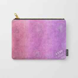 I Can [do all things] (white on colour) Carry-All Pouch