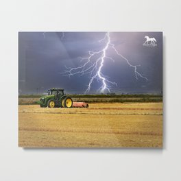 Another day on the Farm Metal Print