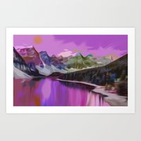 river Art Prints featuring River by Asya Solo