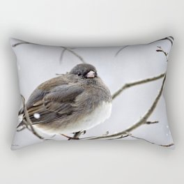Dark Eyed Junco Rectangular Pillow