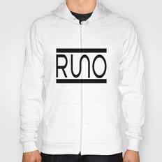 Rue Nothing RUNO Logo Bordered Hoody