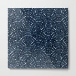Sashiko Pattern Metal Print