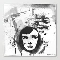 Audrey on a stencil Canvas Print