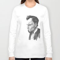 lincoln Long Sleeve T-shirts featuring Lincoln 50 by David Sparvero