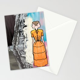She Is Leaving The Painting Stationery Cards