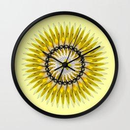 my yellow flower Wall Clock
