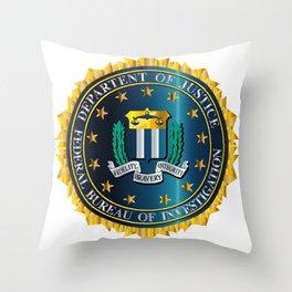 FBI Seal Mockup Throw Pillow
