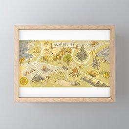 Map of Life Framed Mini Art Print
