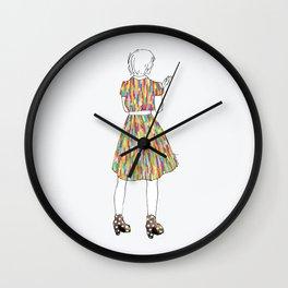 a girl in a dress Wall Clock