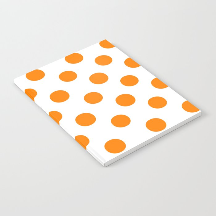 Polka Dots (Orange/White) Notebook