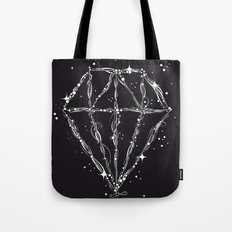 Drawing of a diamond Tote Bag