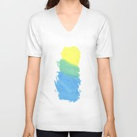 water color V-neck T-shirts featuring Water Color by Kimberly Jones