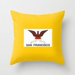 Flag of San Francisco Throw Pillow