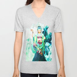 The Goddess of Mercy Unisex V-Neck