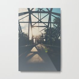 crossing the Mississippi ... Metal Print