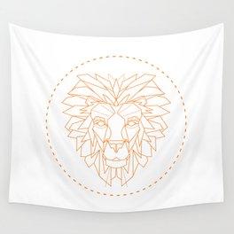 Geometric Lion Wall Tapestry