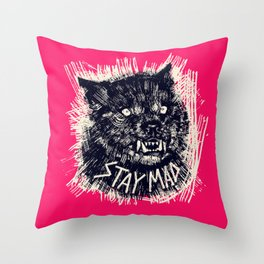 STAY ANGRY Throw Pillow