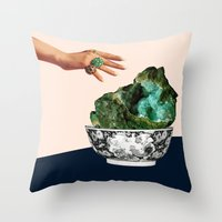 geode Throw Pillows featuring GEODE by Beth Hoeckel