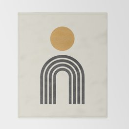 Mid century modern gold Throw Blanket