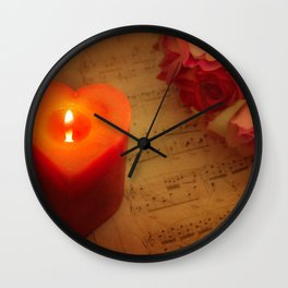 Embedded Within My Heart Wall Clock