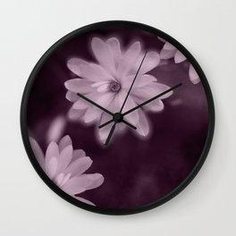 Magnolia dance (purple) Wall Clock