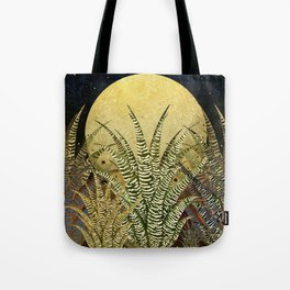 """Golden aloe Zebra midnight sun"" Tote Bag"