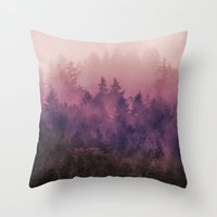 purple Throw Pillows featuring The Heart Of My Heart by Tordis Kayma