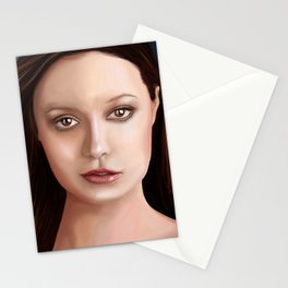Summer Glau - The girl with the beautiful face Stationery Cards