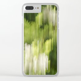 Green Hue Realm Clear iPhone Case