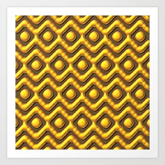 Liquid Gold Pattern Art Print