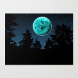 Surreal Blue Night Canvas Print