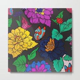Fun with Coloring Floral Print 5 Metal Print
