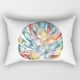 Colourful nature print - Cheese Leaf acrylic painting Rectangular Pillow