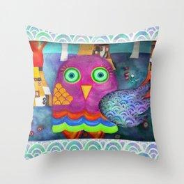 Klimty Forest Throw Pillow