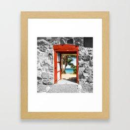 Doorway to Paradise Framed Art Print