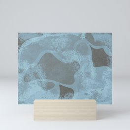 Abstract stains with a texture on them Mini Art Print