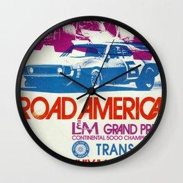 Vintage 1972 Grand Prix Poster Wall Clock