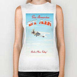 See America! by air - Book a plane today. Biker Tank