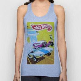 Vintage Redline Era Hot Wheels Demon and Jack Rabbit Special Grand Prix Drag Racing Vintage Poster Unisex Tank Top